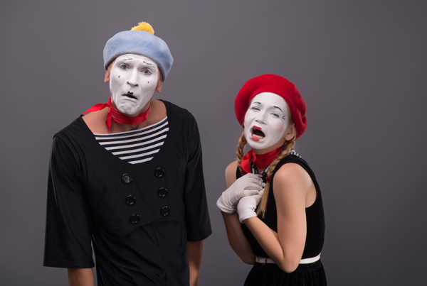 Sad Mime Couple